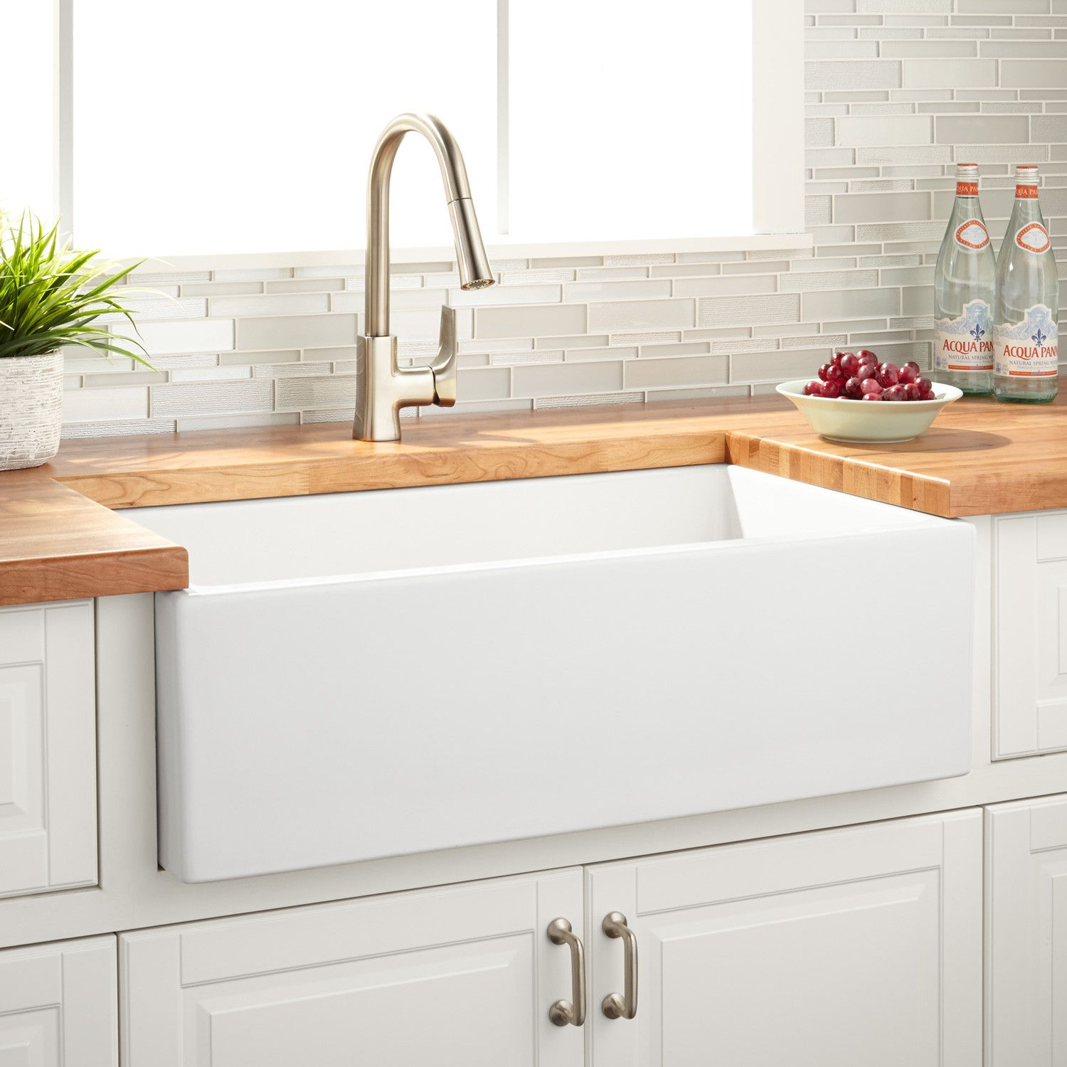 33quot Grigham Reversible Farmhouse Sink White Kitchen