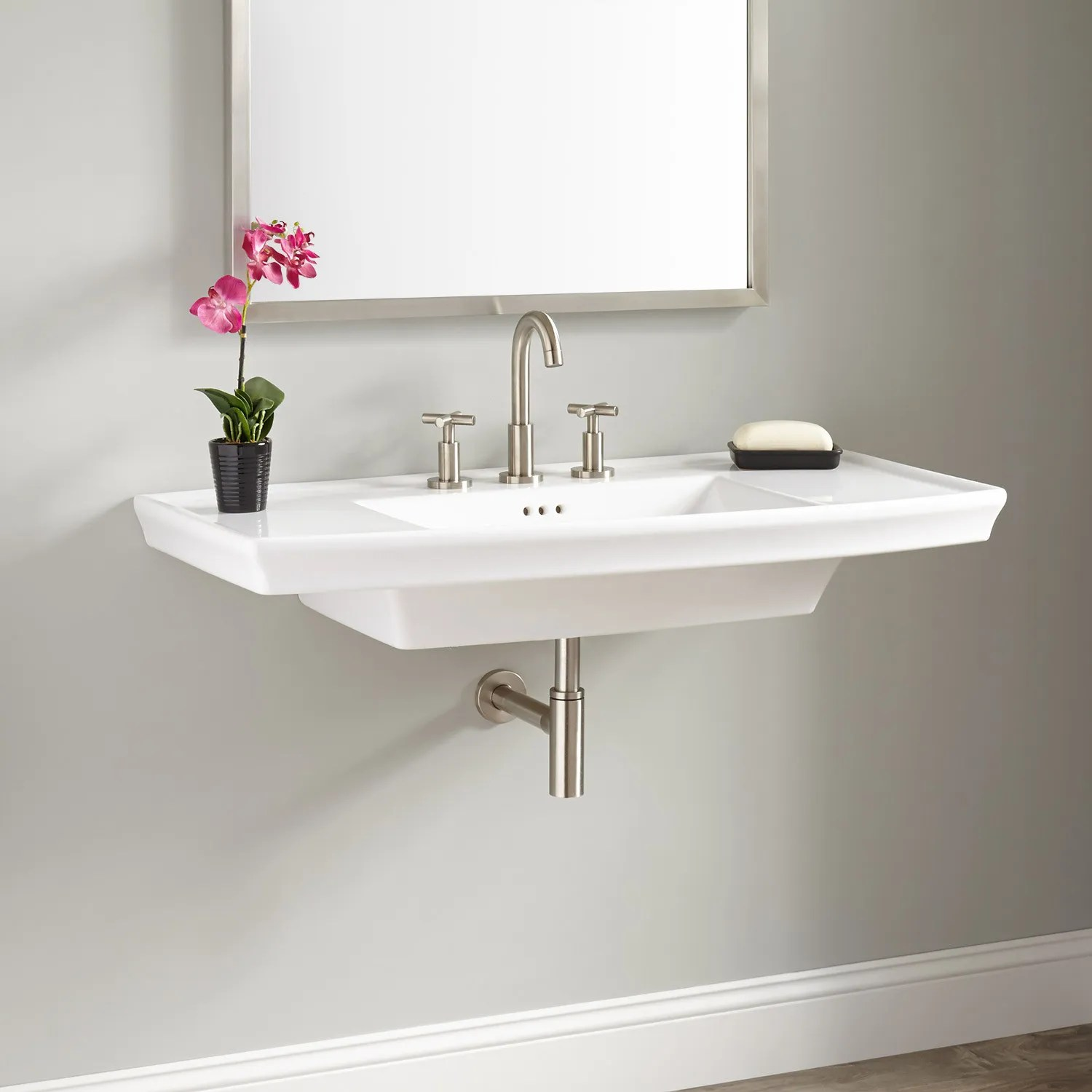 Olney Porcelain WallMount Sink  Bathroom Sinks  Bathroom