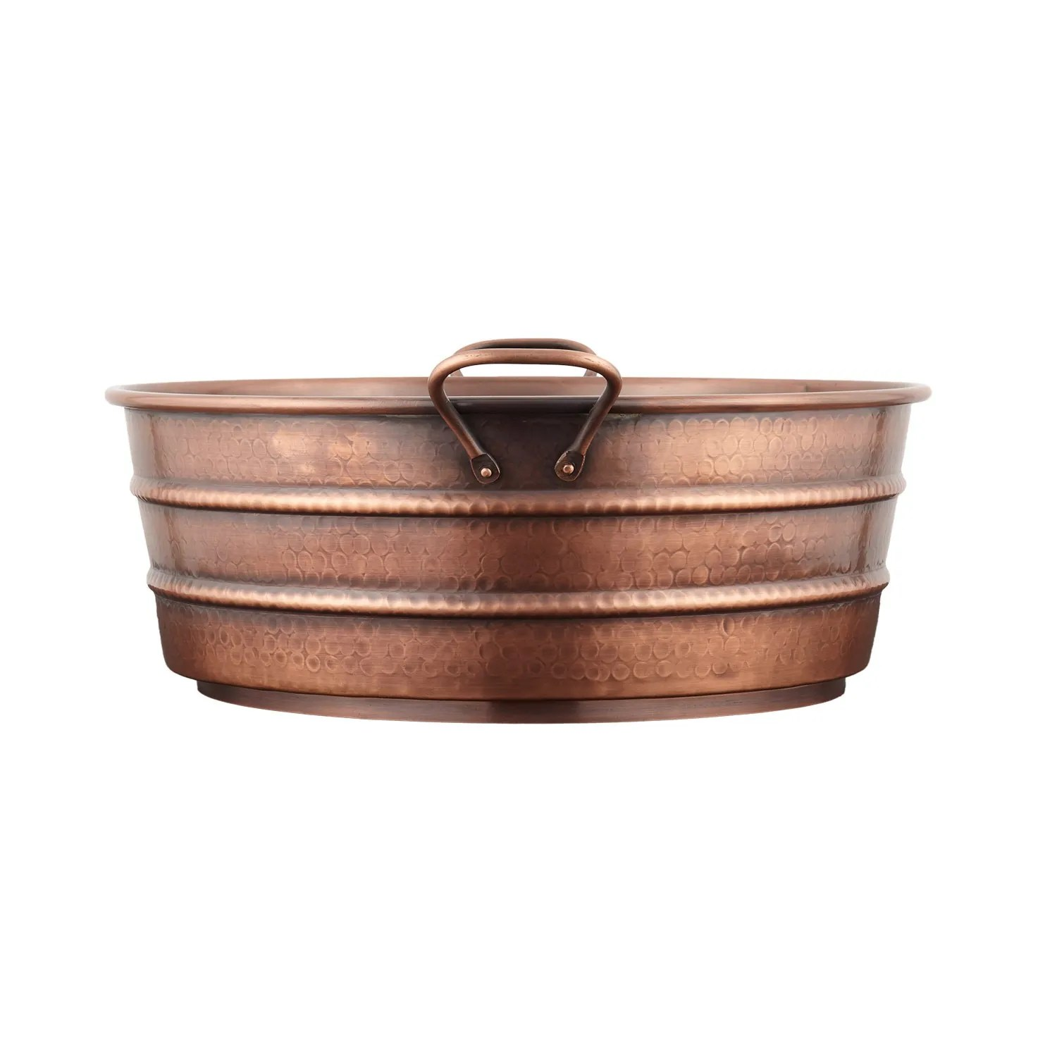 18 Copper Bucket Vessel Sink Hammered Copper Handle Bathroom