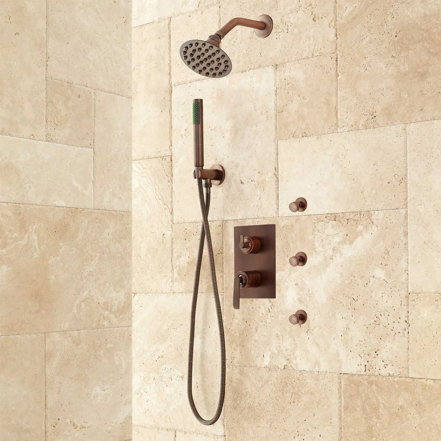 Trimble Shower System with Hand Shower and Body Sprays  Shower Systems and Faucets  Showers