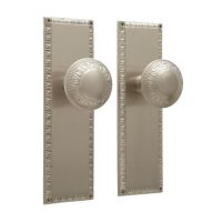 Egg & Dart Door Knob and Plate Set - Privacy, Passage and ...