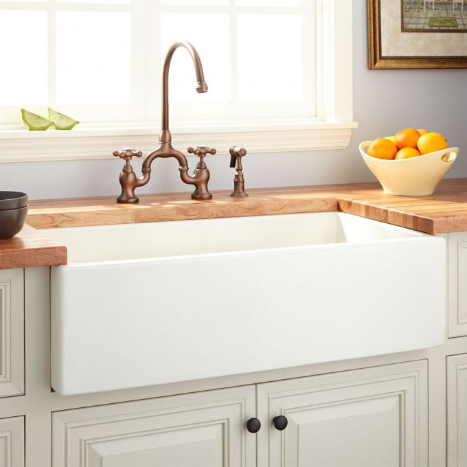 36 Dorhester Fireclay Reversible Farmhouse Sink Smooth