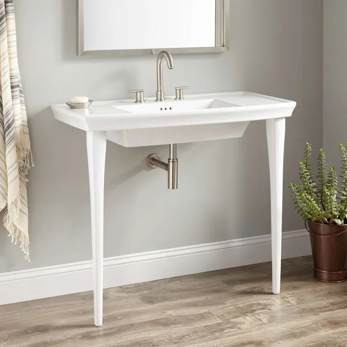 Olney Porcelain Console Sink  Console Sinks  Bathroom