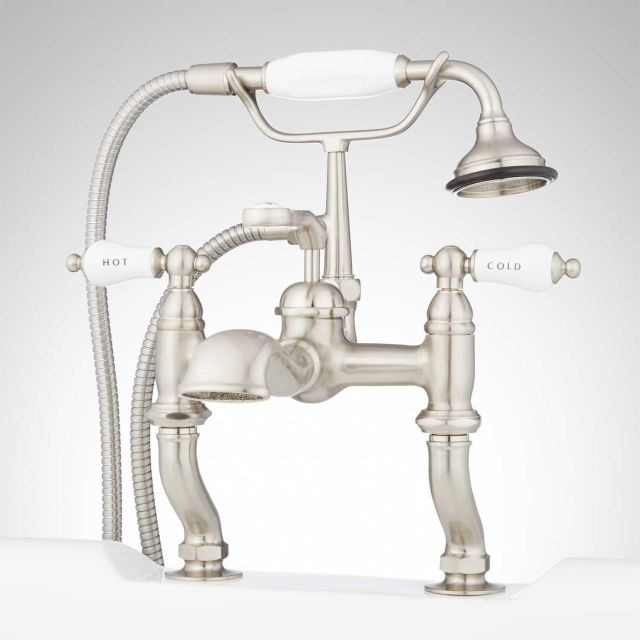 Glenwood Deck Mount Tub Faucet with Variable Couplers Tub