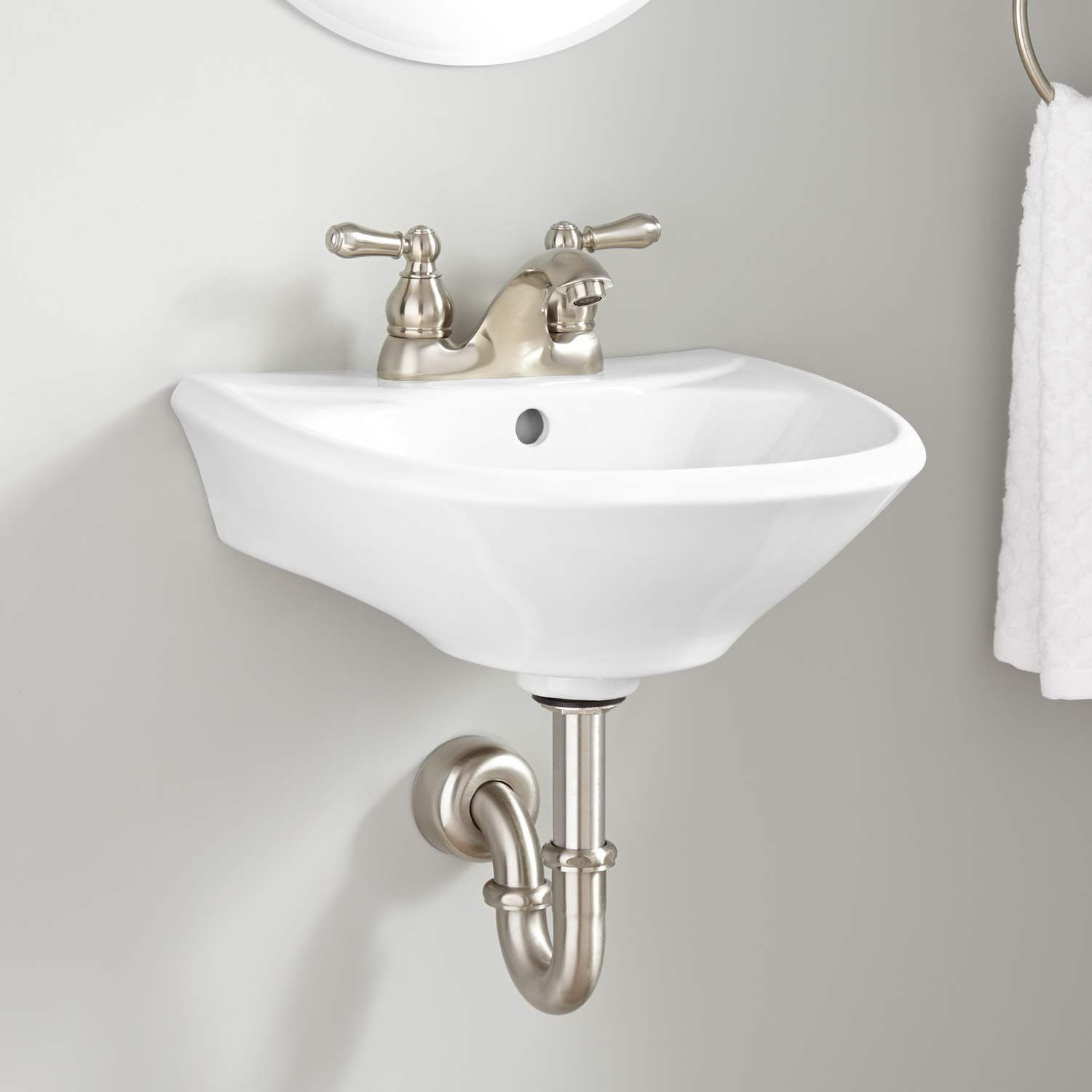 Farnham Mini Porcelain WallMount Bathroom Sink  Bathroom