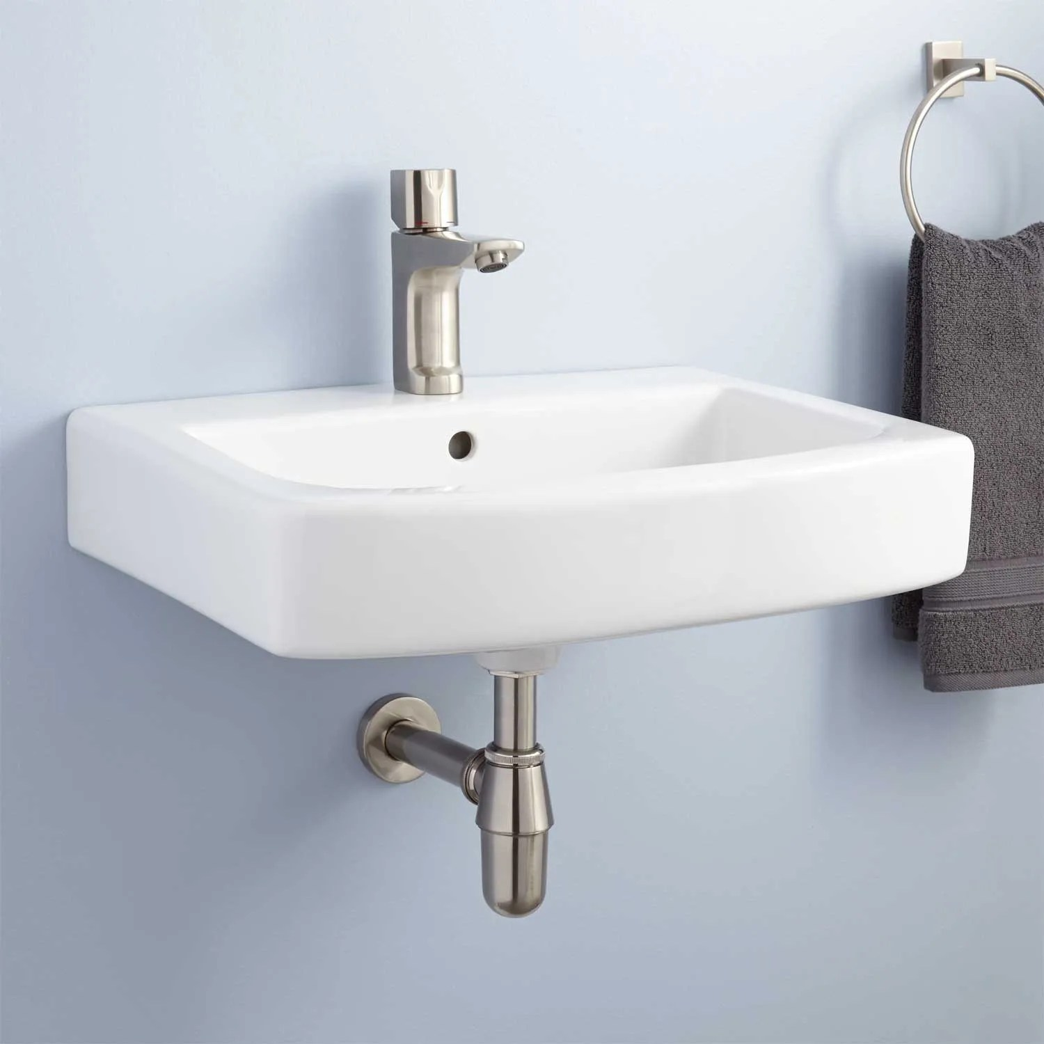 Medeski Porcelain WallMount Bathroom Sink  Bathroom