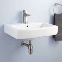 Medeski Porcelain Wall-Mount Bathroom Sink - Bathroom