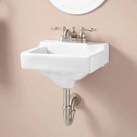 Jellbeck Porcelain Wall-Mount Sink - Bathroom