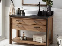 "48"" Celebration Vessel Sink Vanity - Rustic Acacia - Bathroom"