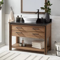 "48"" Celebration Console Vessel Sink Vanity - Rustic Acacia ..."