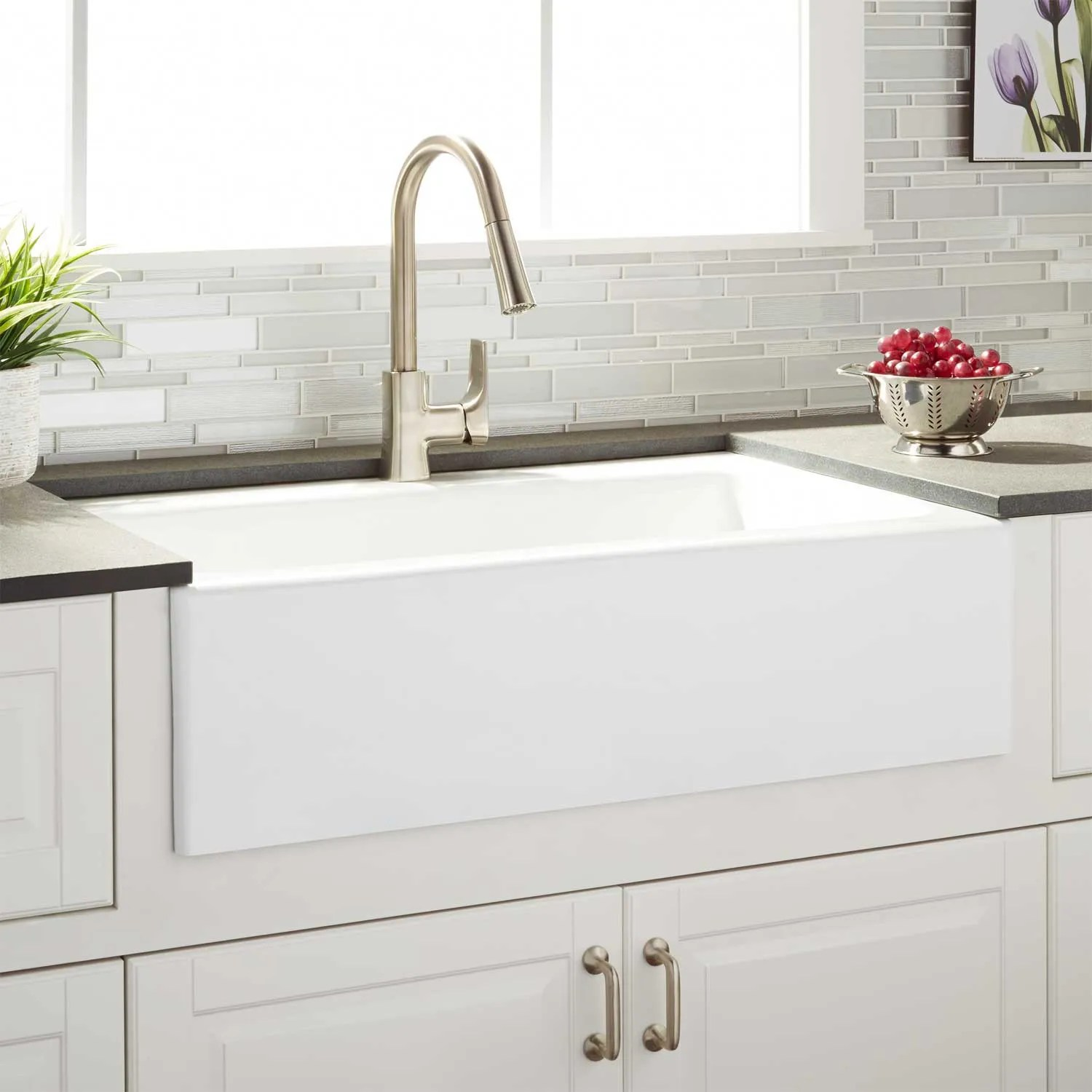 farmhouse kitchen sinks new 33 quot almeria cast iron sink