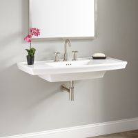 Olney Porcelain Wall-Mount Sink - Bathroom