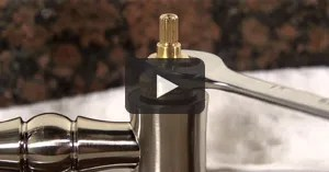 cleaning a kitchen faucet cartridge video