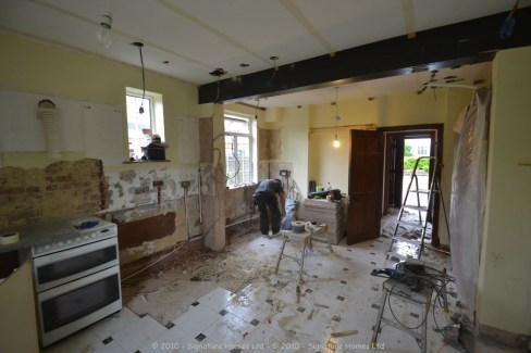 Bespoke Kitchen Makeover - Painted Ash Collection - Tollers Lane DURING 2