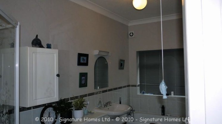 Light & Spacious Fitted Bathroom with pentagon shower enclosure - Woodcrest Road Purley BEFORE 2