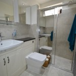 Wet Room with Mirrored Shower Screen in Purley