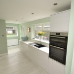 Gloss Light Grey Handleless Kitchen