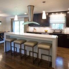 Kitchen Island Counter Corner Sinks Design In Two Levels Signature Kitchens Additions Bethesda Md With Elevated Top What Was A Small Imagine Wall Where The Is Hides
