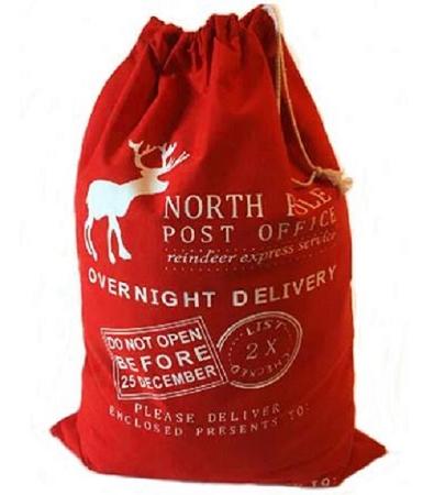 red santa sacks