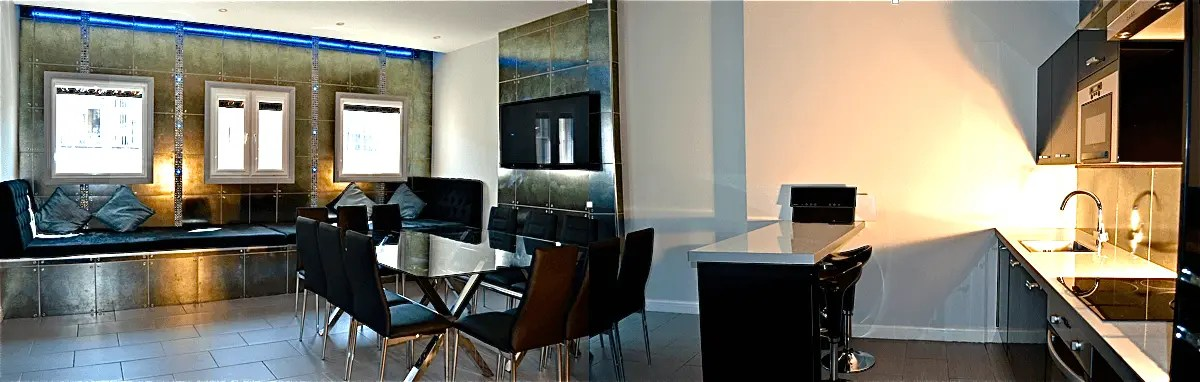 two seat kitchen table runners matthew street serviced apartments liverpool | signature ...