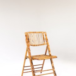 Bamboo Folding Chair Dining Room Covers On Sale Signature Party Rentals