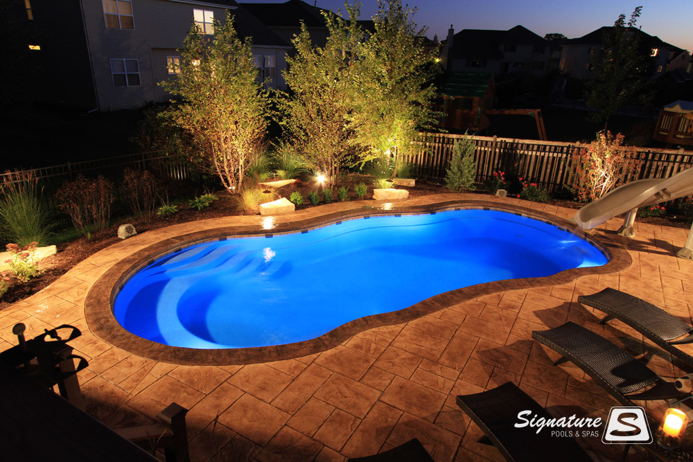 Gallery of inground fiberglass pool pictures  Signature Fiberglass Pools Chicago Swimming Pool