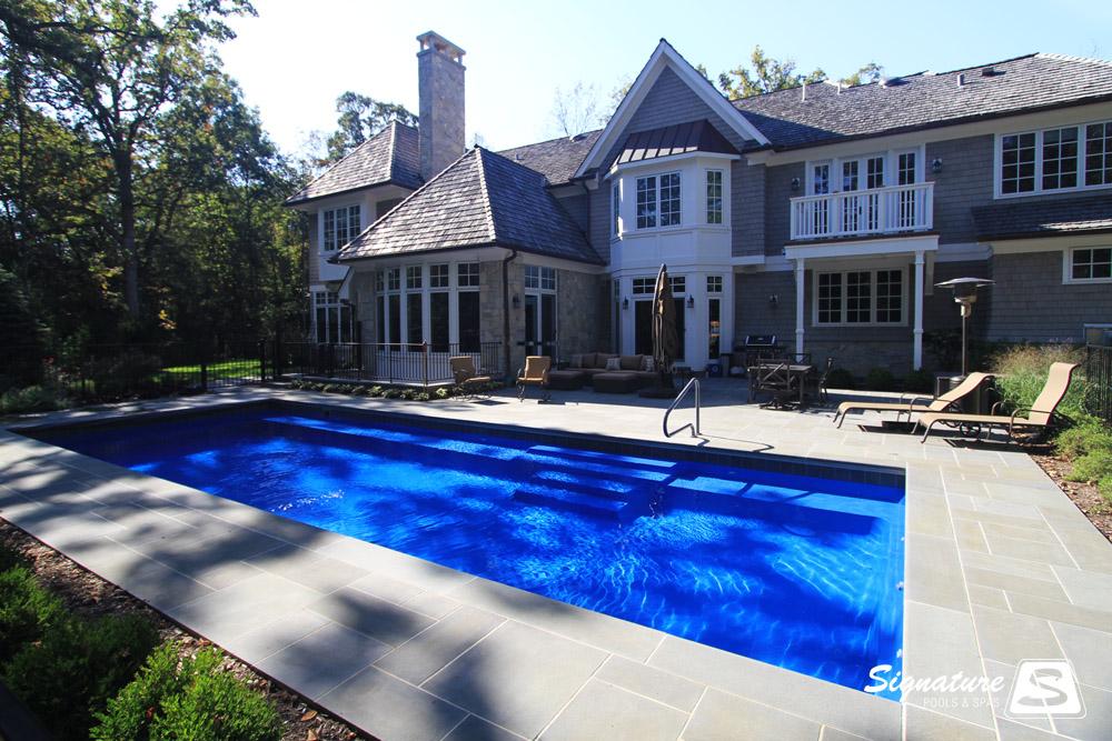 Grand Elegance Model Pool  Signature Fiberglass Pools