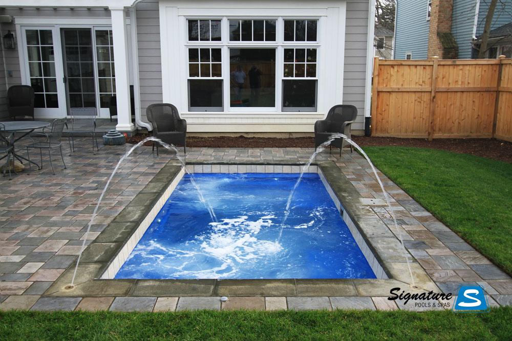 Palladium Plunge Model Pool from Leisure Pools  Signature Fiberglass Pools Chicago Swimming