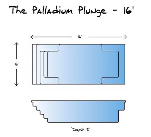 Shallow Well Pump Diagram Palladium Plunge Model Pool From Leisure Pools Signature