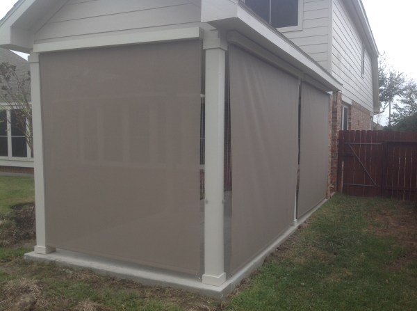 Outdoor Roll Up Shades Home Depot