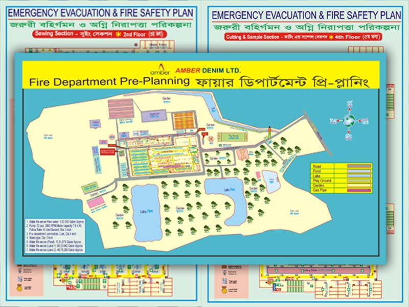 Compliance Related Safety Sign Risk Assessment Policy And Fire Safety Evacuation Floor Plan