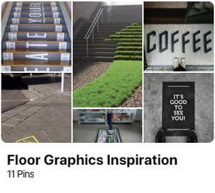 signage pinterest floor decals