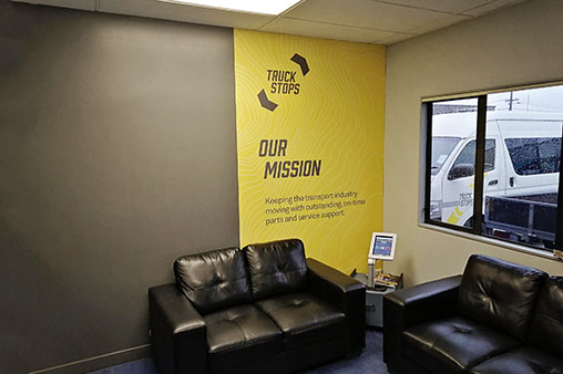 Office Sign Wall Wrap