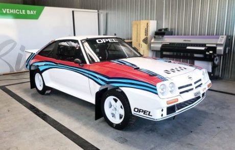 Signage Vehicle Opel Rally Car