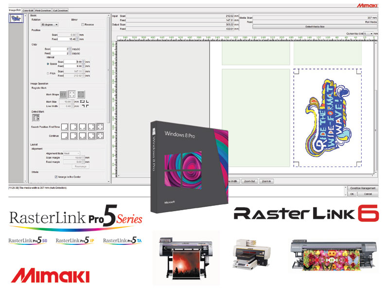 Windows 8 support for Mimaki RIP software