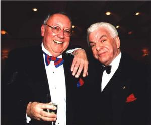 Bob (l) with Barry Cryer