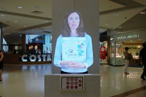 Tensator's Virtual Assistant informs shoppers about stores and offers in the Grafton Centre.