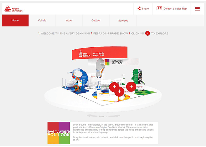 Avery Dennison opens its virtual booth