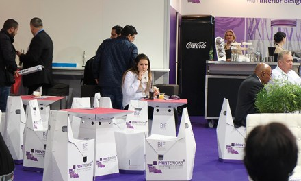 Brandžit Furniture kits out FESPA's Printeriors Cafe