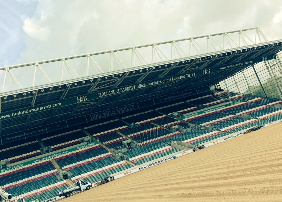 Holland & Barrett Stand at Leicester Tigers
