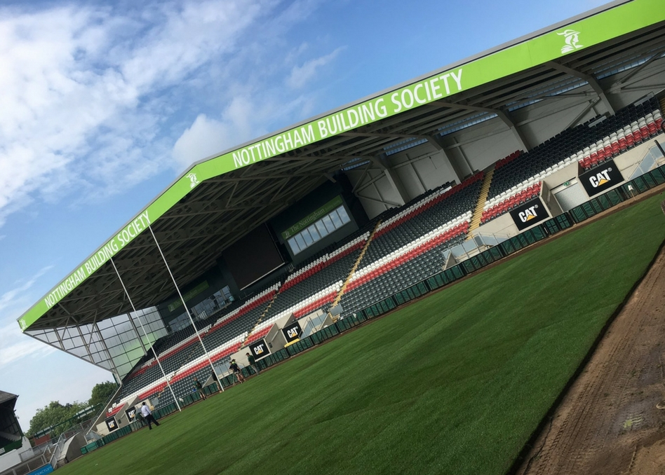 Nottingham Buidling Society Stand at Leicester Tigers by Allan Signs