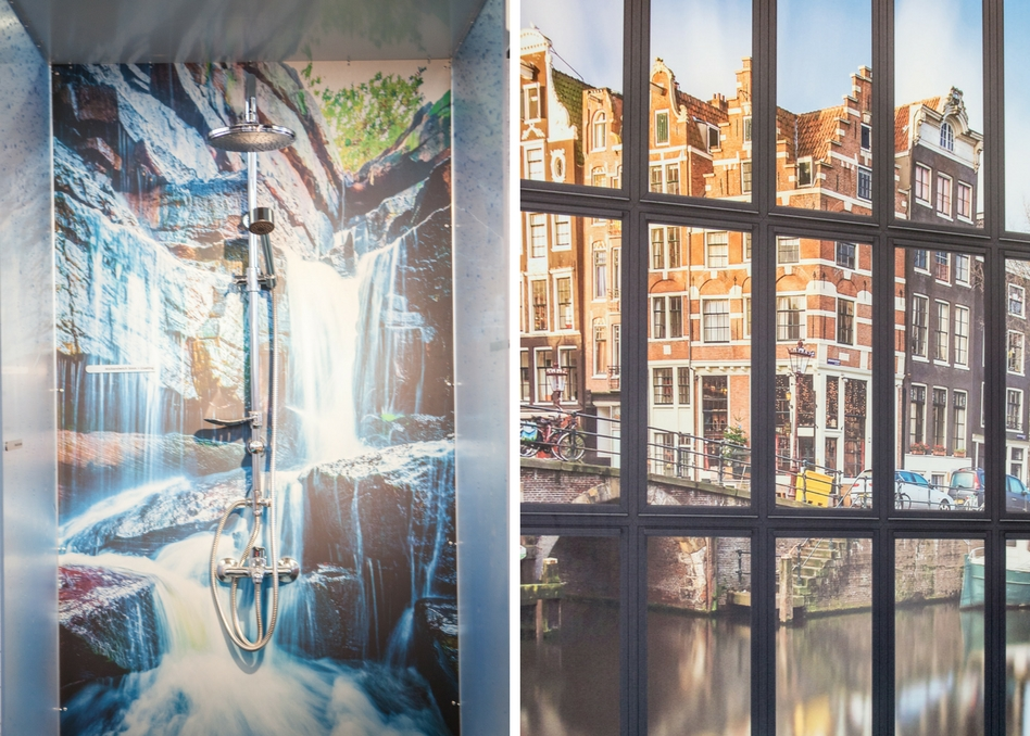 2 examples of printed interior decor