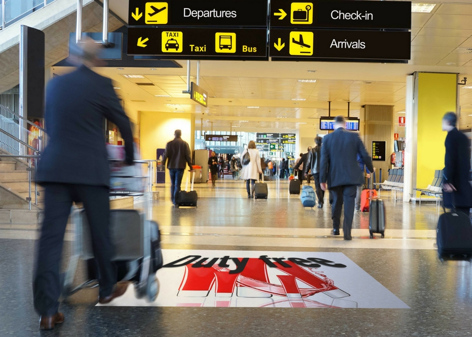 Print'nGo Aslan airport floor graphic