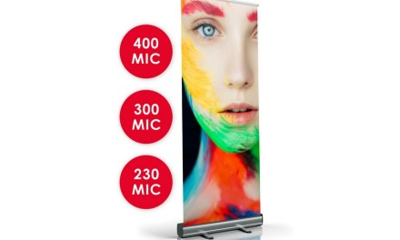 GGS introduces a new textured roller banner media