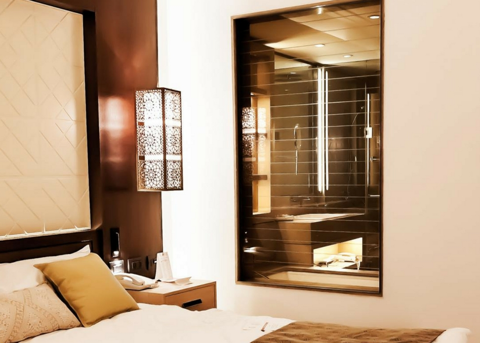 clear switchable film in bedroom