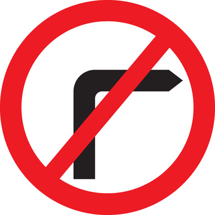 sign-giving-order-no-right-turn