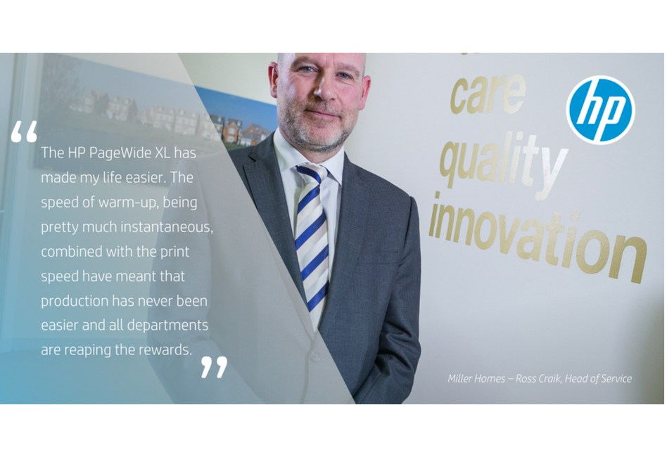 Miller Homes reaps the rewards of HP Pagewide