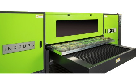 Inkcups to show and array of digital and pad printers