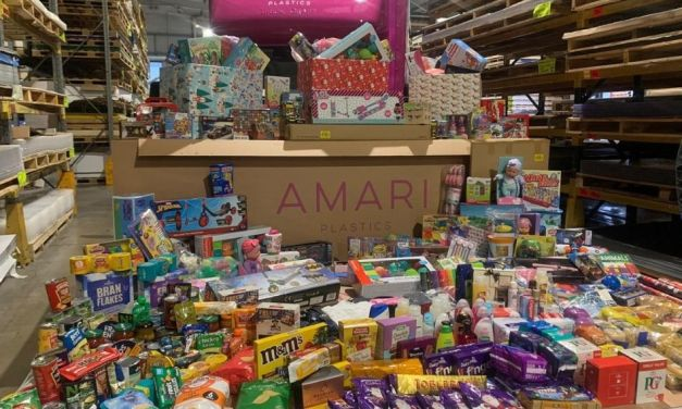 Amari Plastics plays 'Santa's Helper' for local children in need