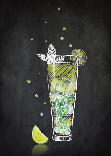 Illustrations cocktails Finley